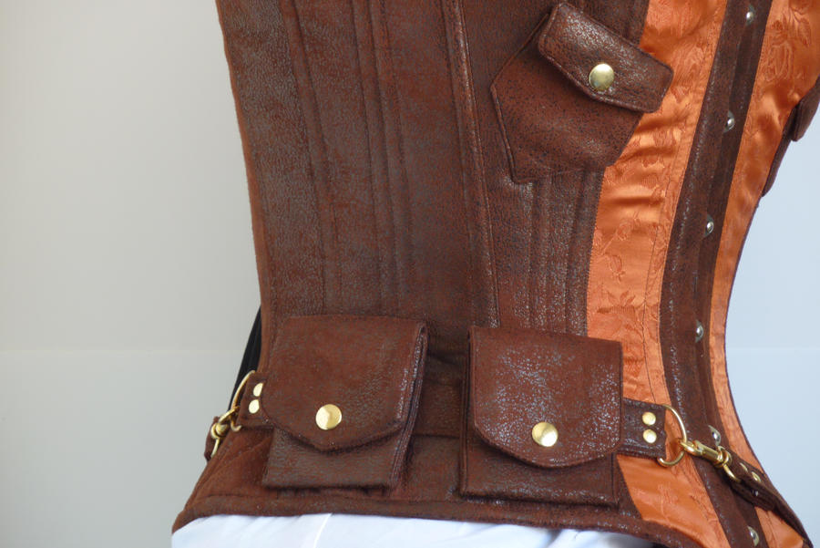 Copper steampunk corset by LillysWorkshop
