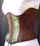 Green underbust corset