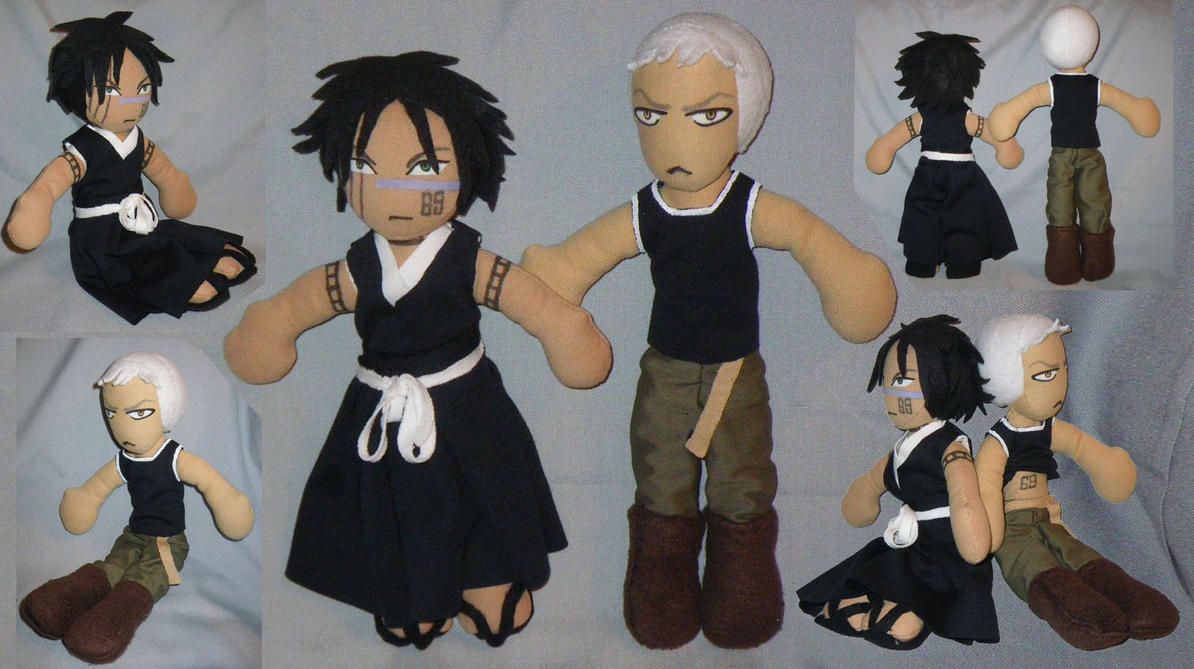 Shuuhei Kensei Bleach Plushies by Threnodi