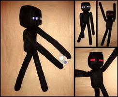 Minecraft Enderman Plushie by Threnodi