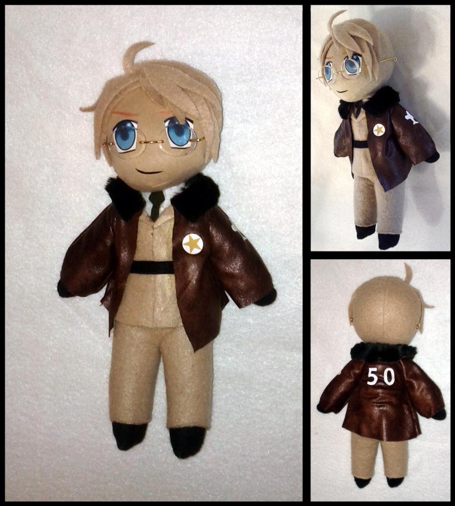 Hetalia America Plushie Doll by Threnodi