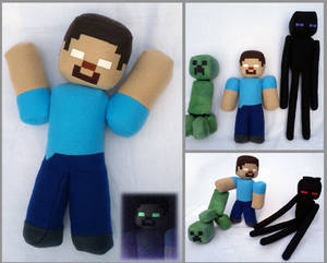 Herobrine With Glow-Eyes And Gang