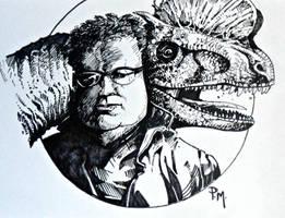 Nedry- real dilophosaurus by PM-Graphix