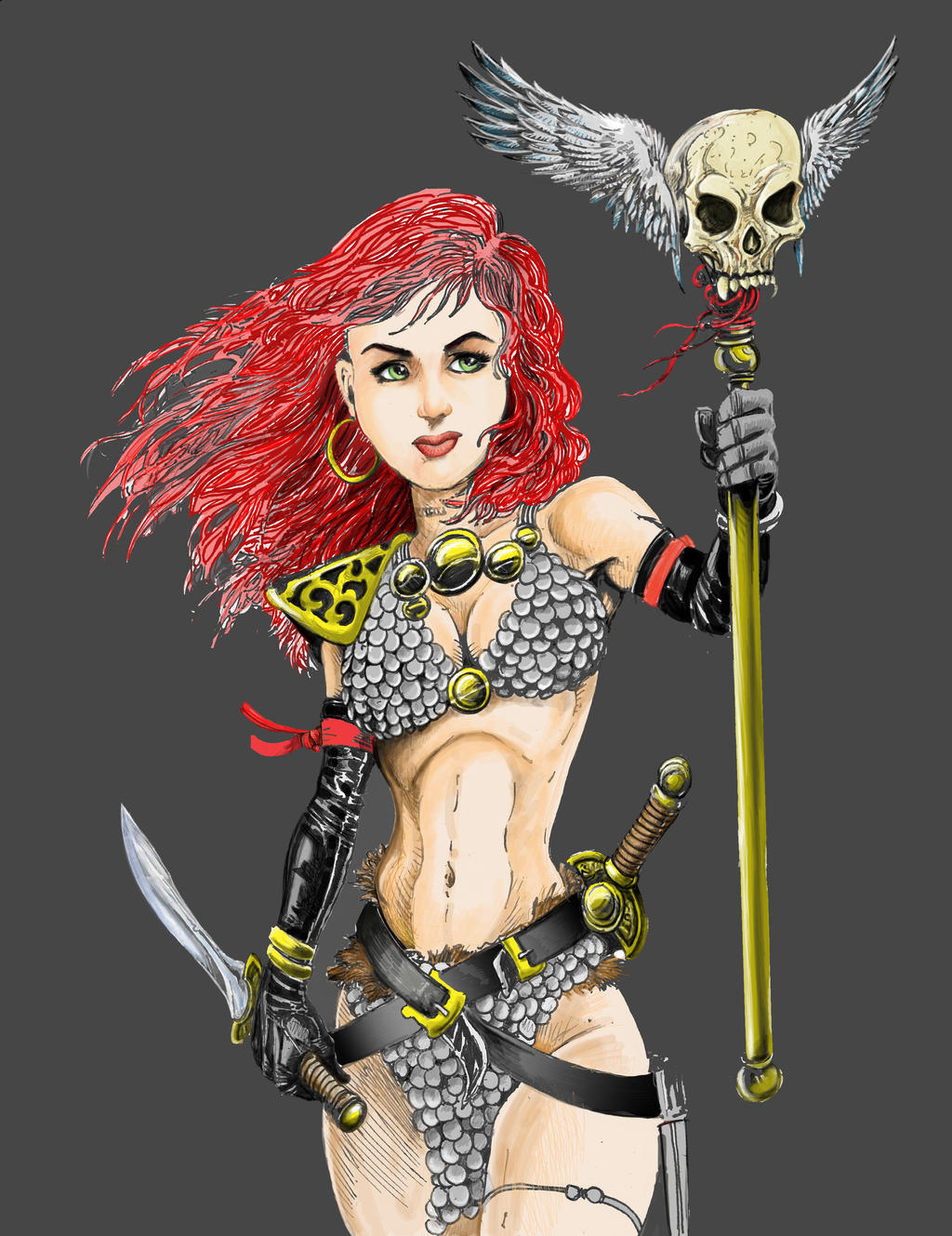 Red Sonja Warrior by PM-Graphix