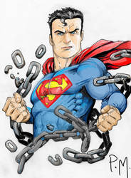Superman Unchained Color by PM-Graphix