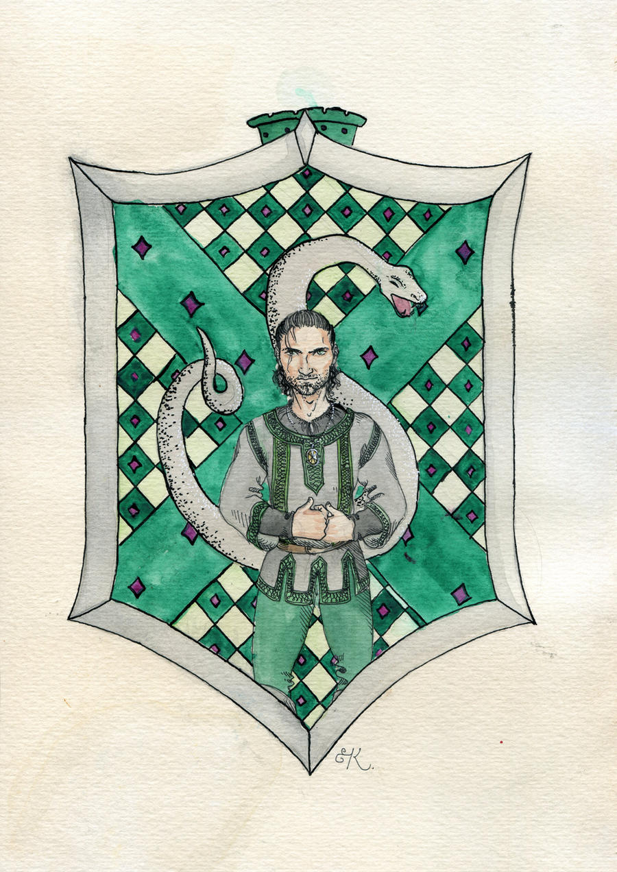 Salazar Slytherin by Kitty-Grimm
