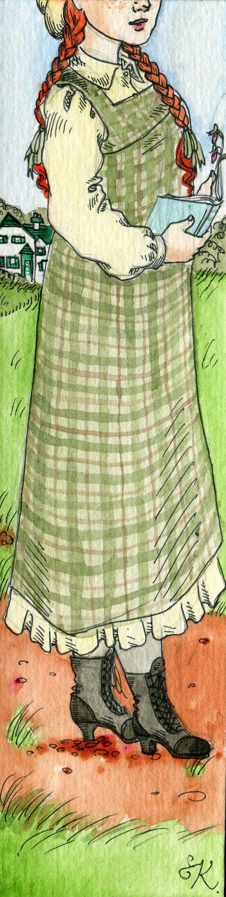 Anne of Green Gables Bookmark by Kitty-Grimm