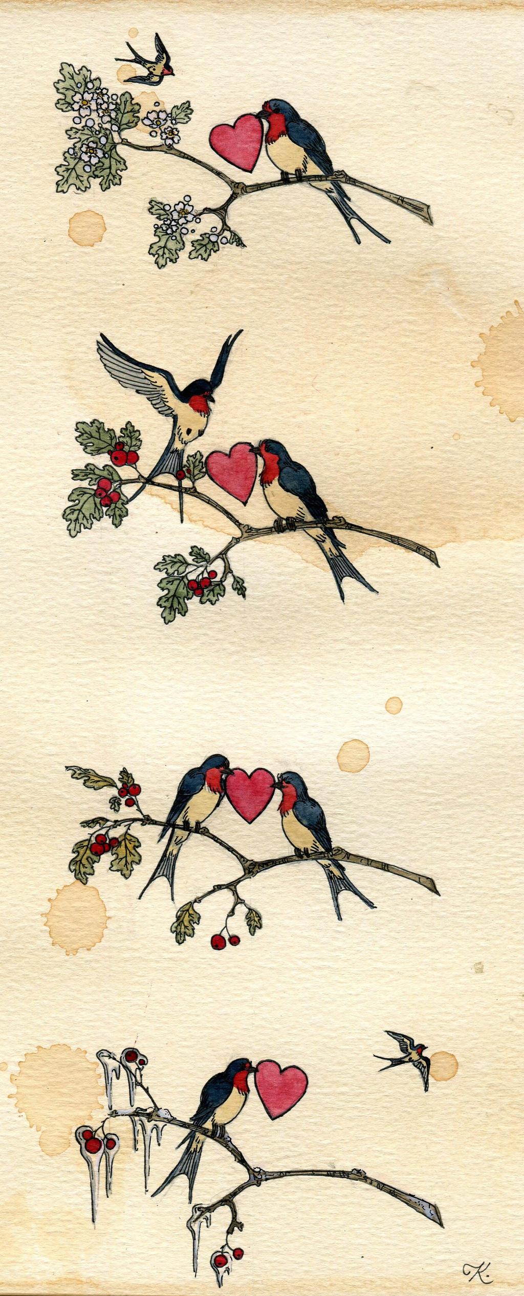 Lovebirds by Kitty-Grimm
