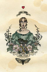 Emily Bronte by Kitty-Grimm