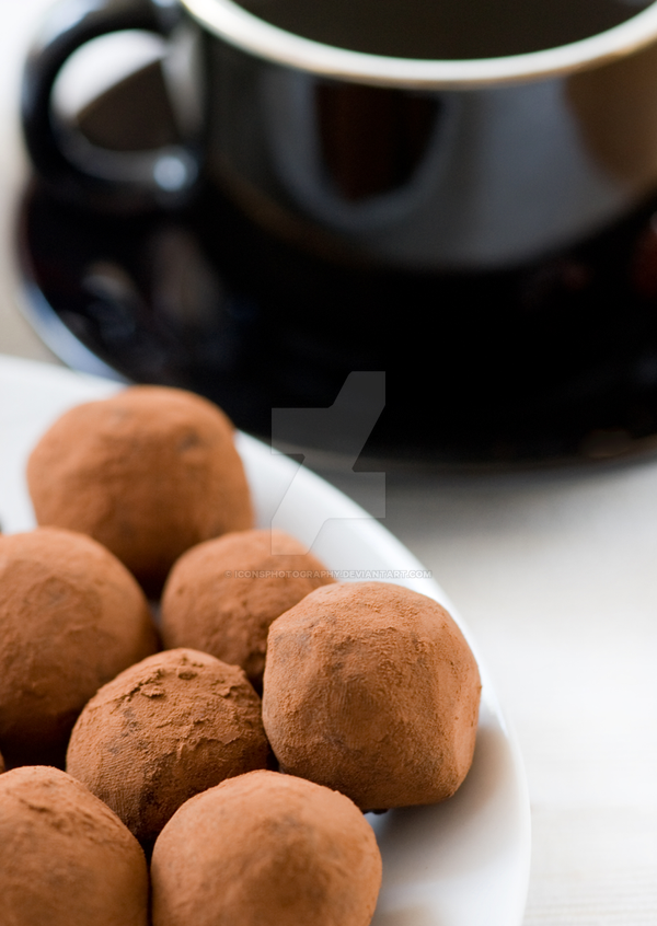 Luxurious Chocolate Truffles Coated in Cocoa by iconsPhotography