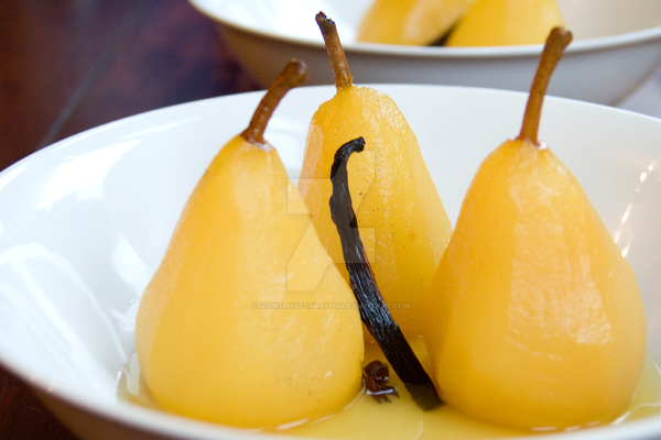 Poached Vanilla Pears by iconsPhotography