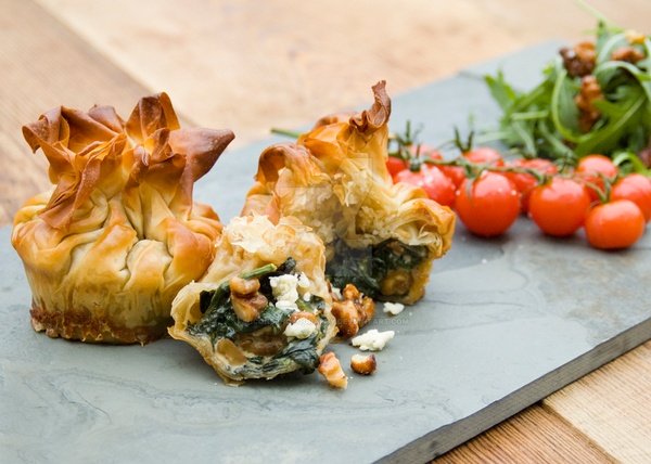 Spinach Parcels with Pine Nuts and Blue Cheese by iconsPhotography