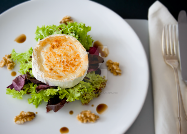 Goat's Cheese and Walnut Salad by iconsPhotography