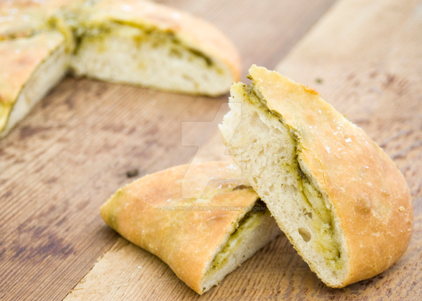 Green Pesto Ciabatta by iconsPhotography