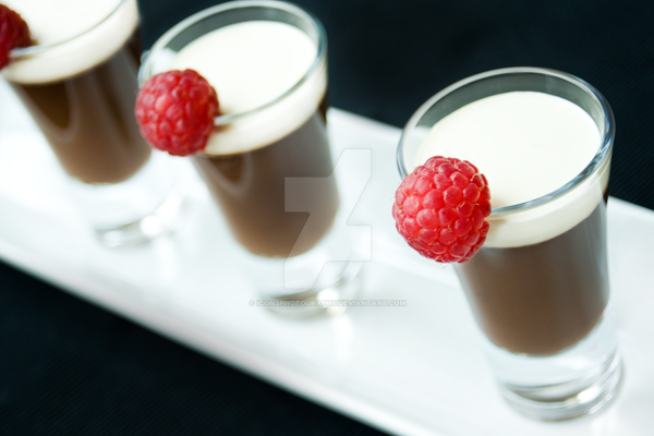 Chocolate Pots with Raspberries by iconsPhotography