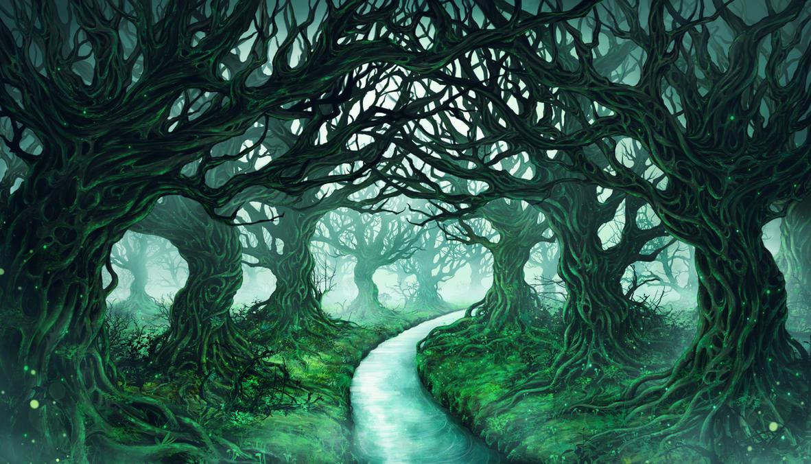 Fantasy Forest by higu0217