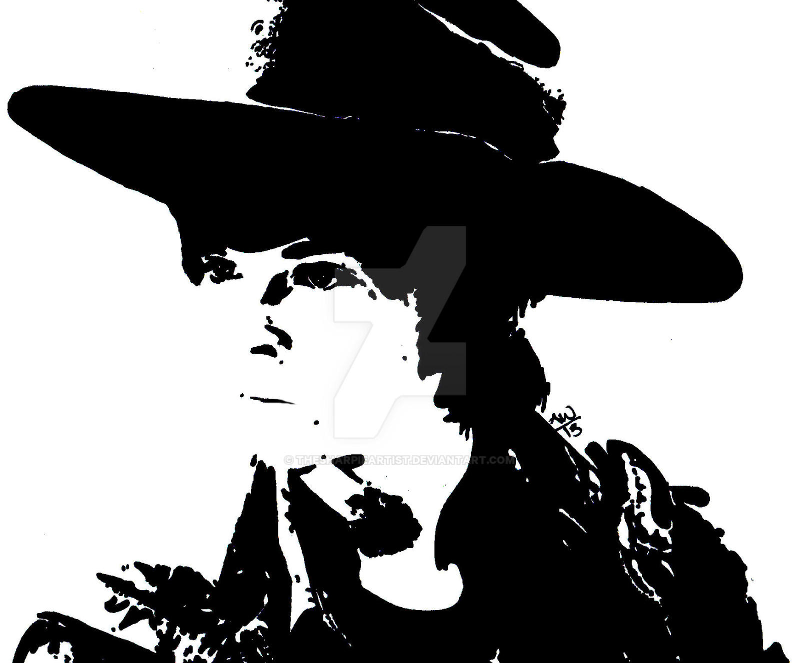 The Walking Dead Black And White Clip Art Cliparts