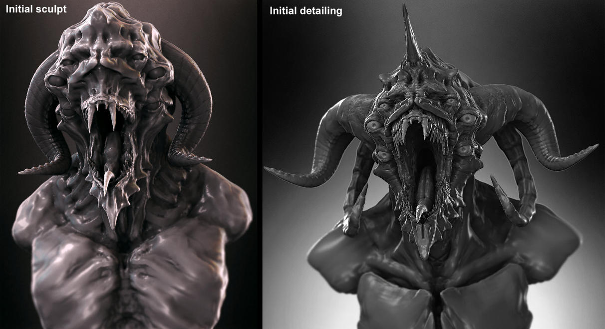 Demon Bust - Work in progress by zerojs