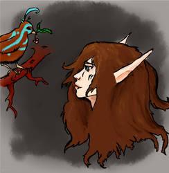 Elf and bird
