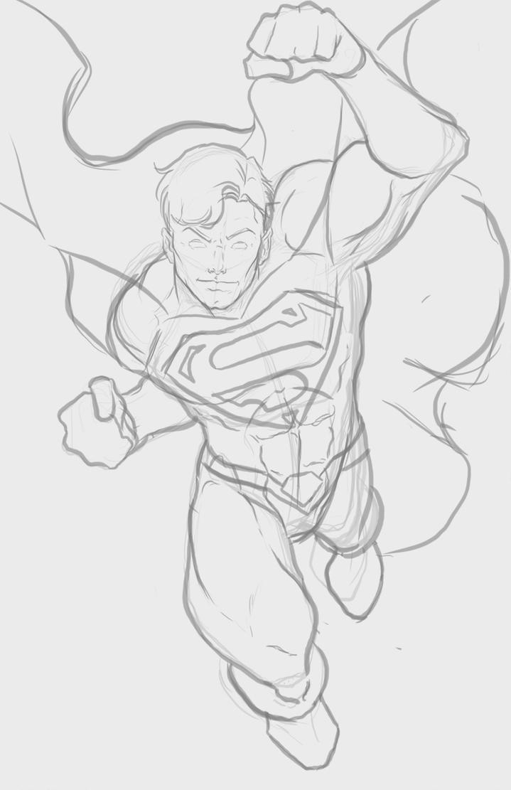 Man of Steel Sketch by mrfuzzynutz