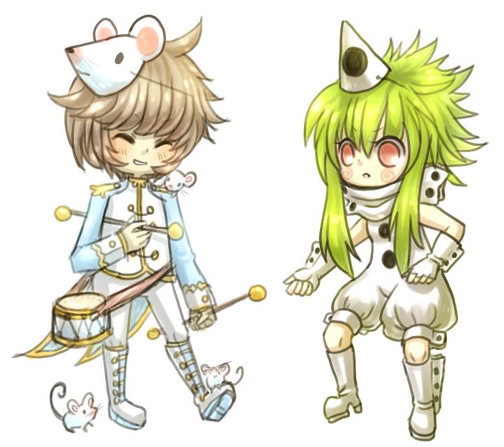 Anton and Poupourri by onisuu