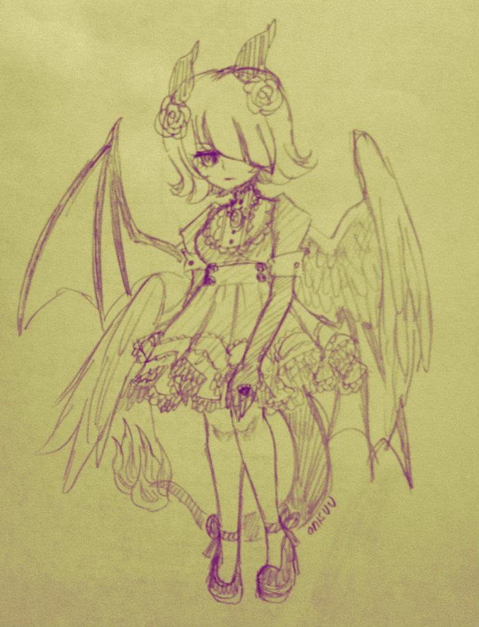 Ocs -- dragon girl2 design by onisuu