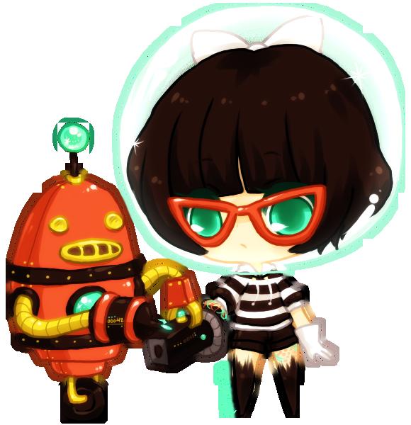 art trade -- edlynbot by onisuu