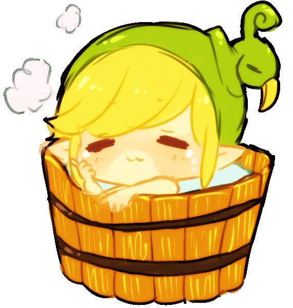 minish cap -- bath time! by onisuu