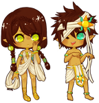 OCs -- Fahren and Celsus by onisuu