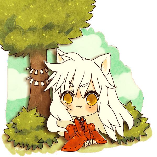 inuyasha -- paper cutout by onisuu