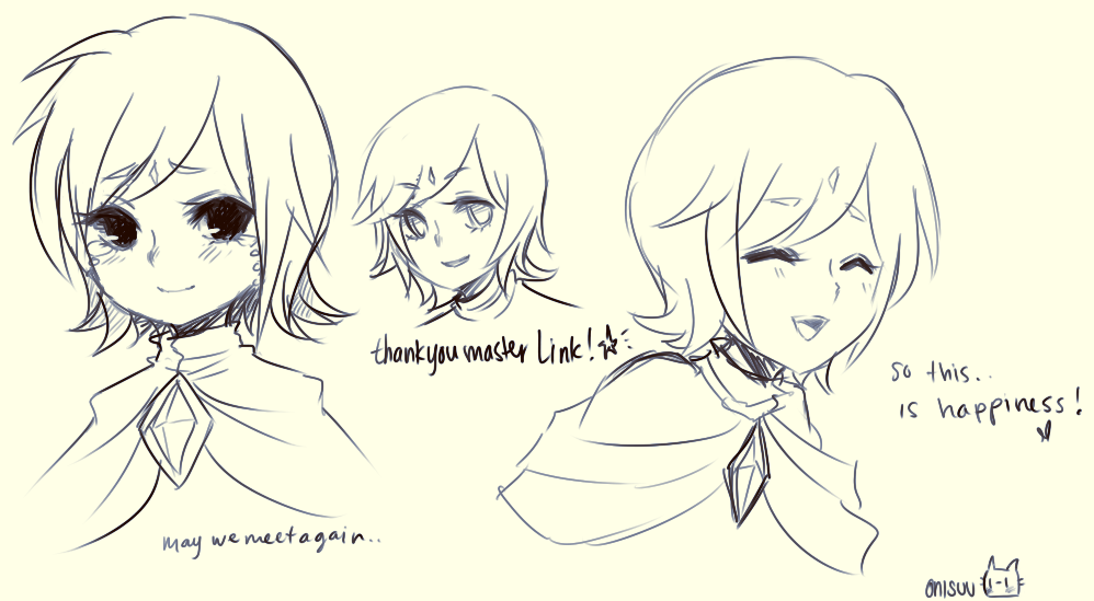 skyward sword -- fi doodles by onisuu