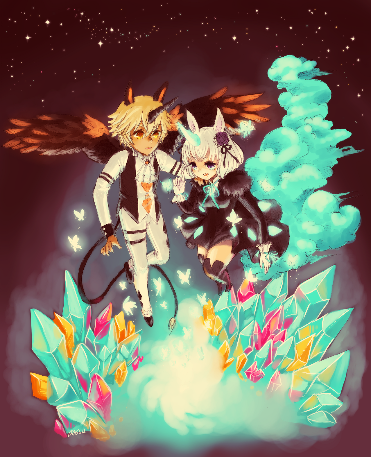 OCs -- night of the unicorns by onisuu