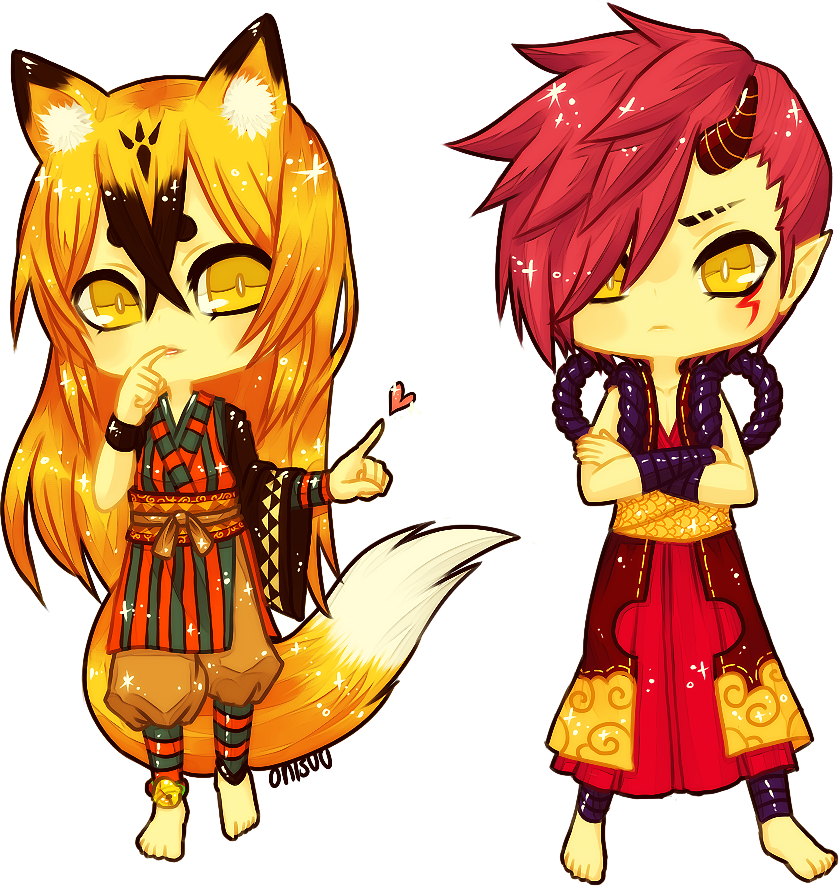 commission -- khouen and cervene by onisuu
