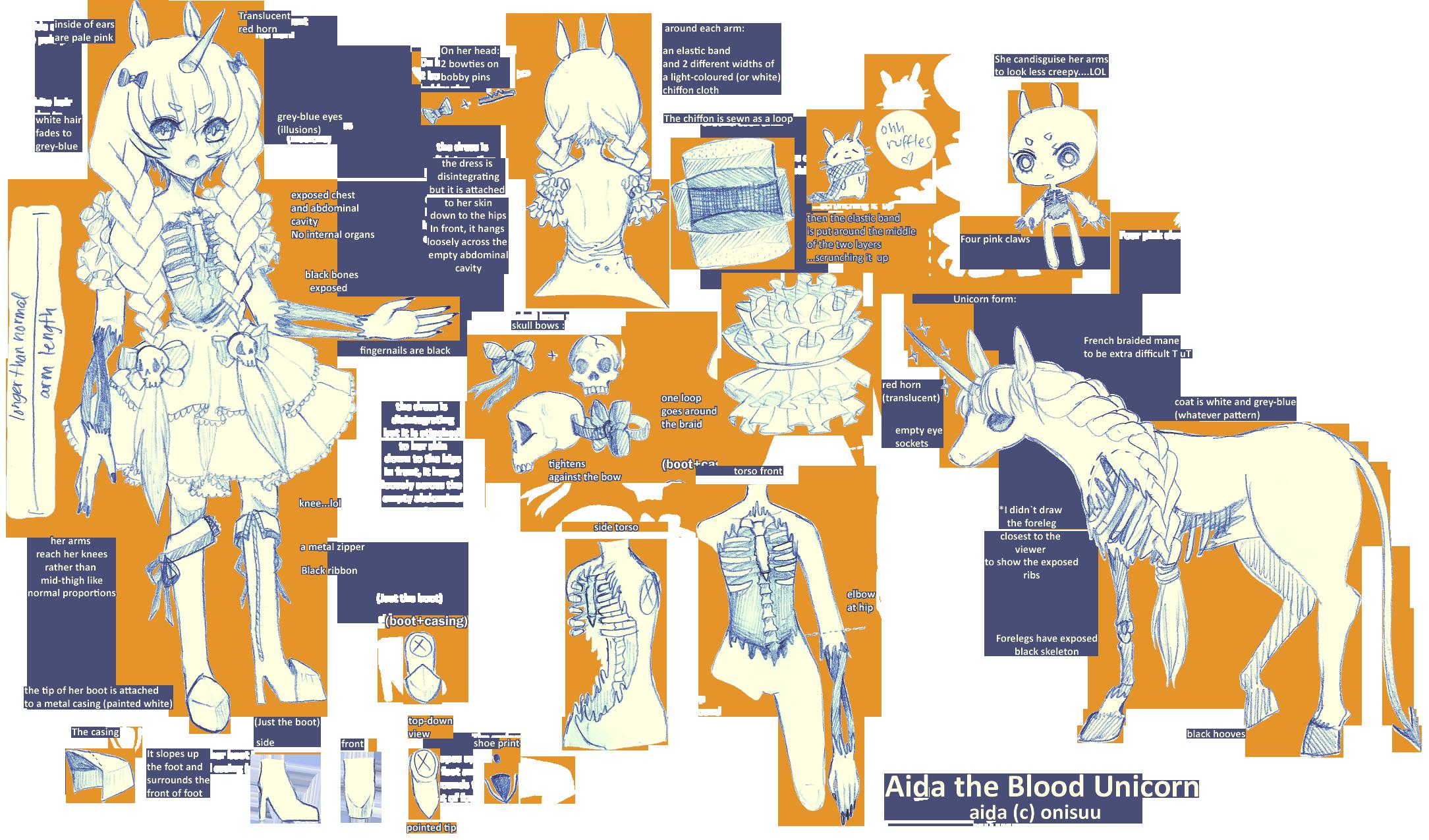 OCs -- Aida reference sheet by onisuu
