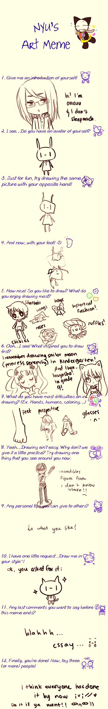 nyu's art meme by onisuu