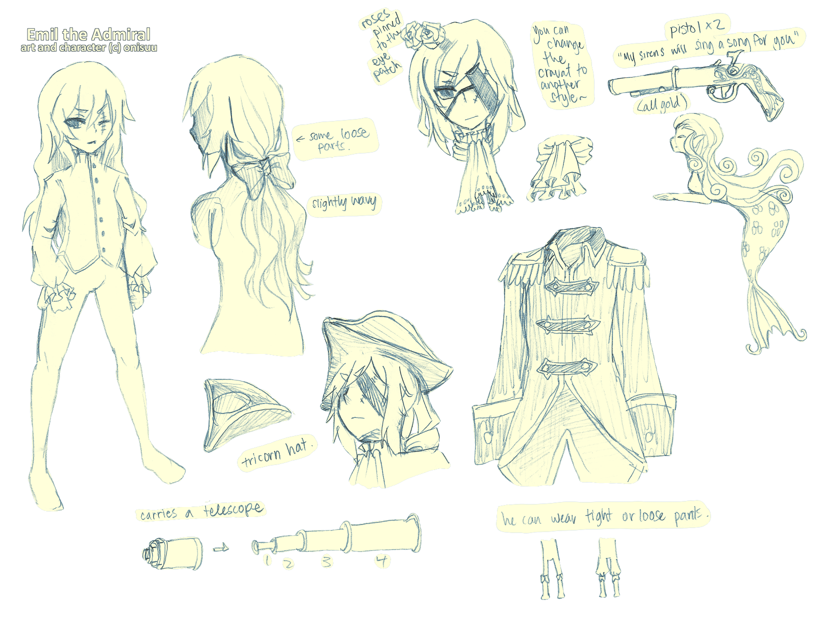 OCs -- Emil ref sheet by onisuu