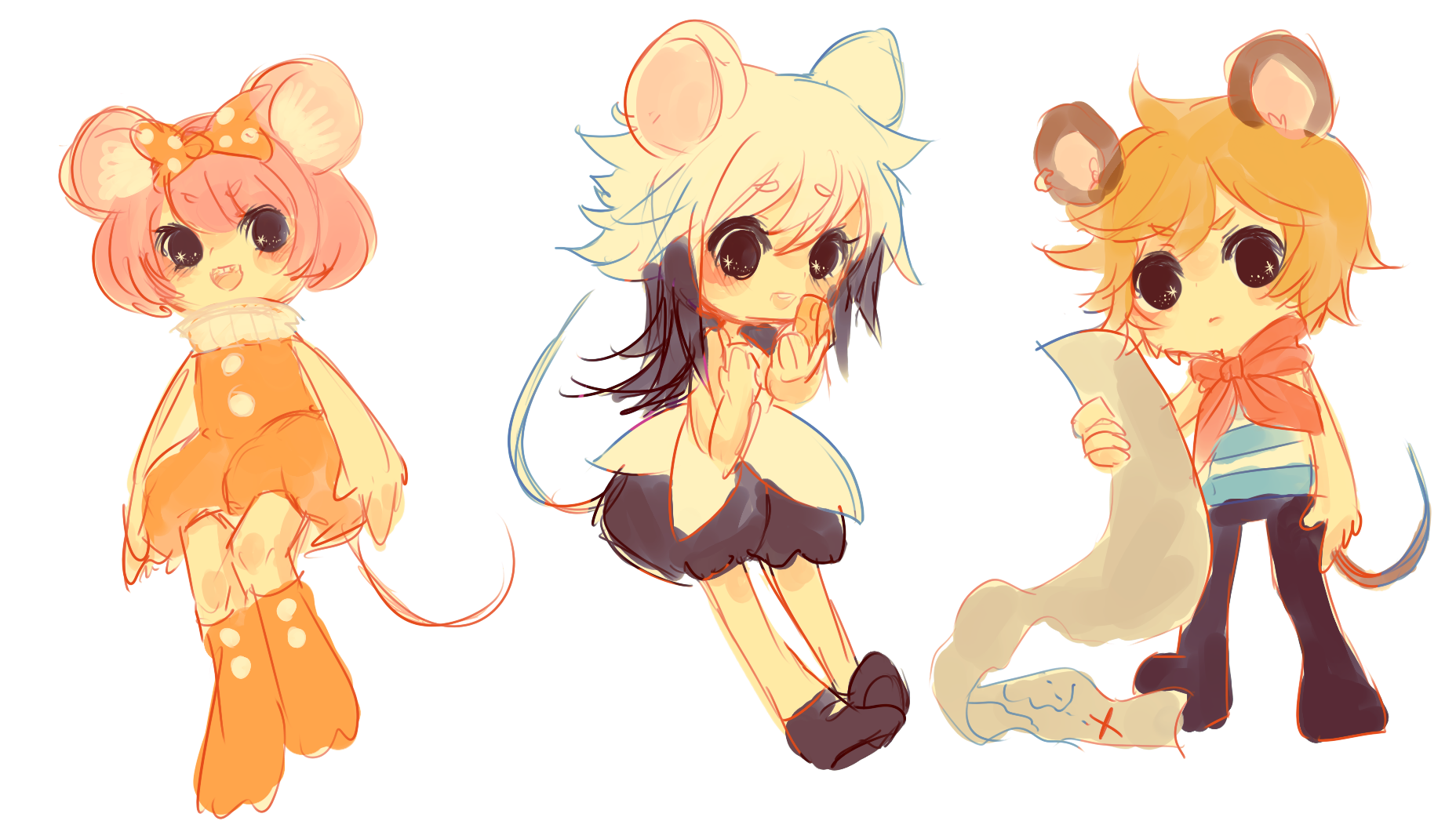 OCs -- of mice n rats by onisuu