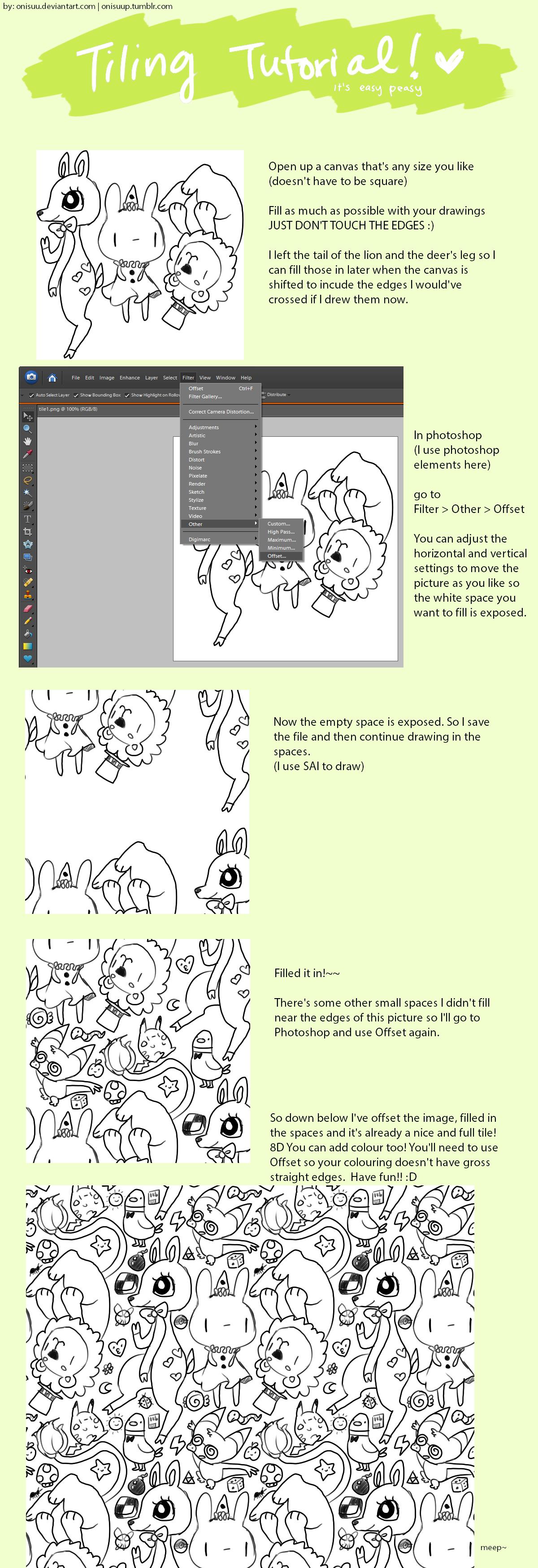 tutorial -- repeating pattern (update)