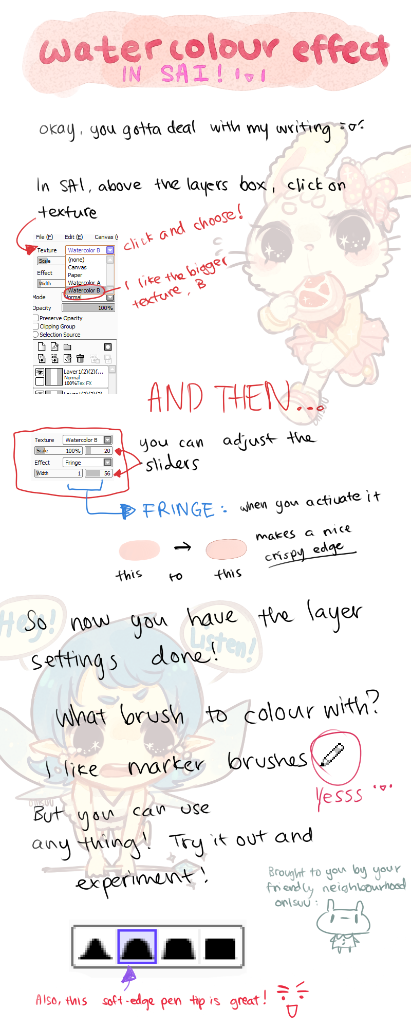 SAI -- HOW TO: Watercolour Effect by onisuu