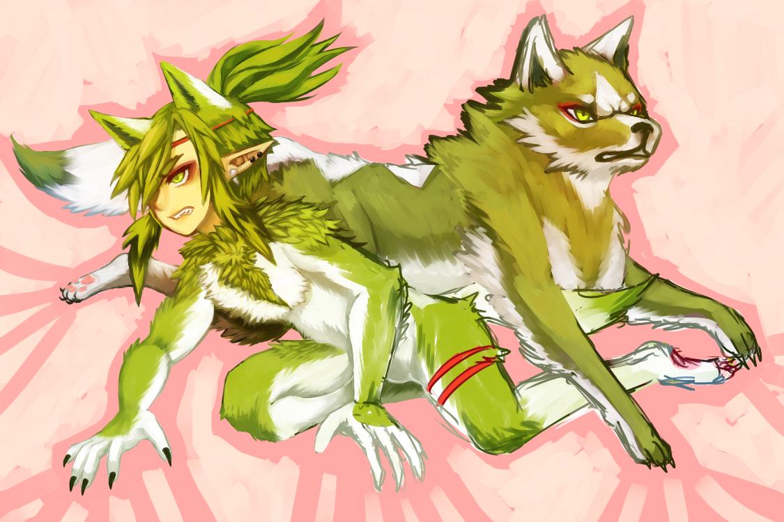 OC -- Green Wolf (WIP) by onisuu