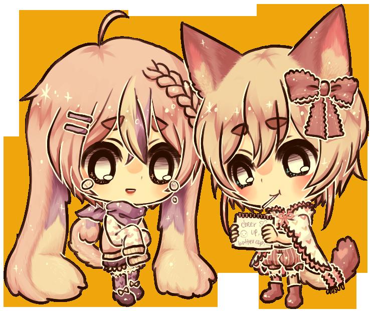 commission -- Eveli and Locke by onisuu