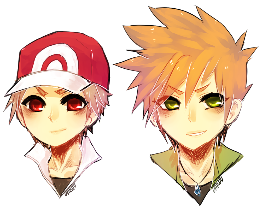 pokemon - red and green by onisuu on DeviantArt
