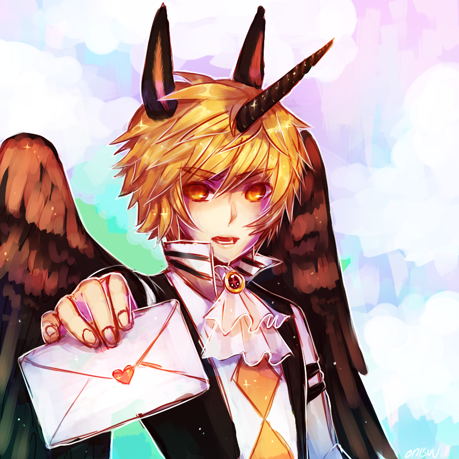 OCs -- Ceros gets a letter (spdpaint) by onisuu