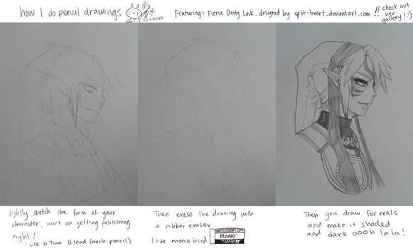my pencil drawing process by onisuu