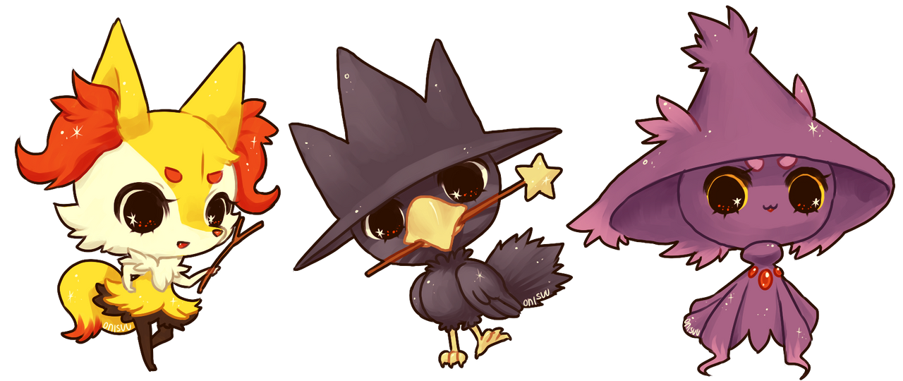 pokemon -- Pokewitches by onisuu