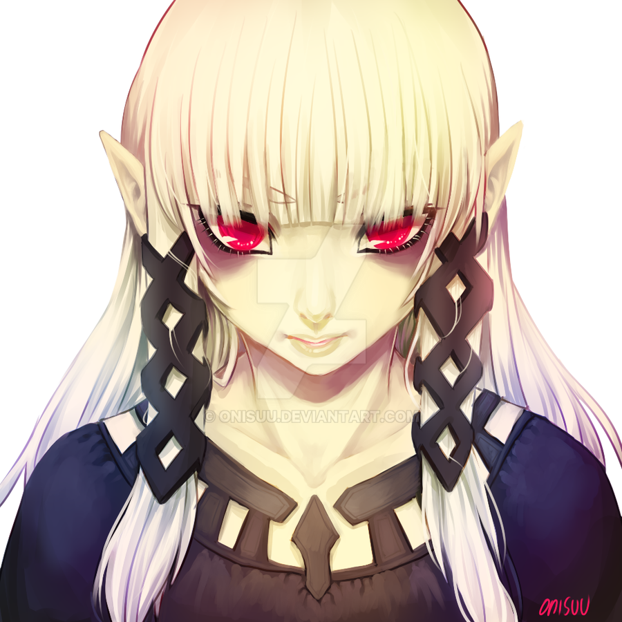 LoZ --  Darkzelda (+spdpaint) by onisuu