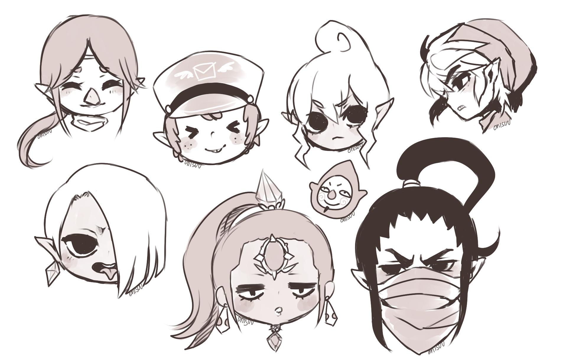 LOZ Headshots by onisuu