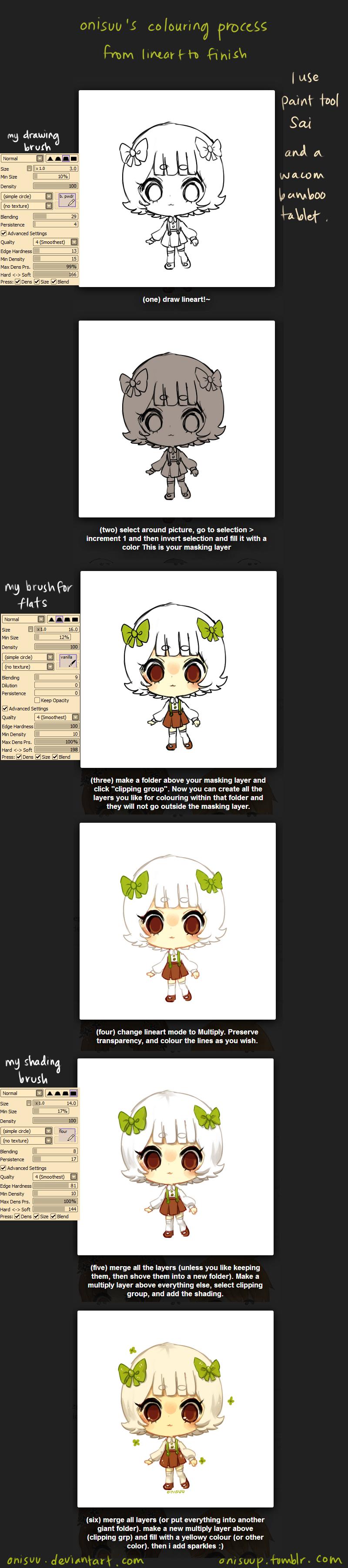 SAI -- My colouring process by onisuu