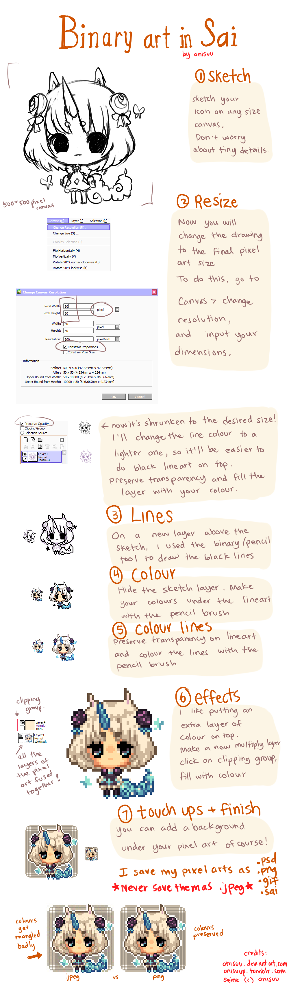 how to change paint size in paint tool sai