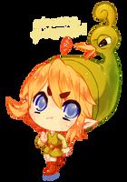 Minish Cap -- Link And Ezlo by onisuu